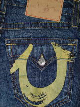 TRUE RELIGION BILLY YELLOW PAINTED