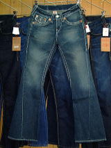 TRUE RELIGION JOEY W/STITCH BIG T STYLE:24803NBTLS COLOR:3M-DK DRIFTER N/R MADE IN U.S.A. 100%COTTON